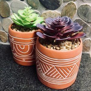Terra Cotta Faux Succulents